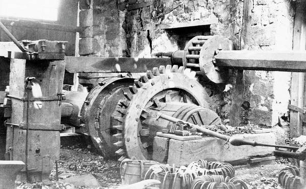 Steel Beams Wall Art - Photograph - Ironworking Forge Machinery by Hagley Museum And Archive