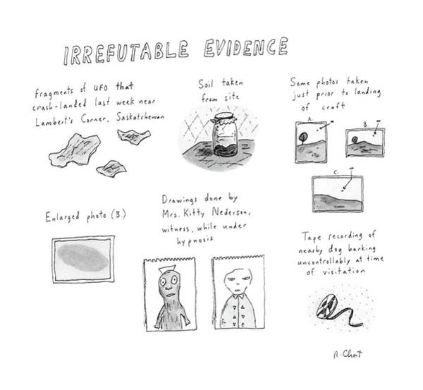 Pseudo Drawing - Irrefutable Evidence by Roz Chast