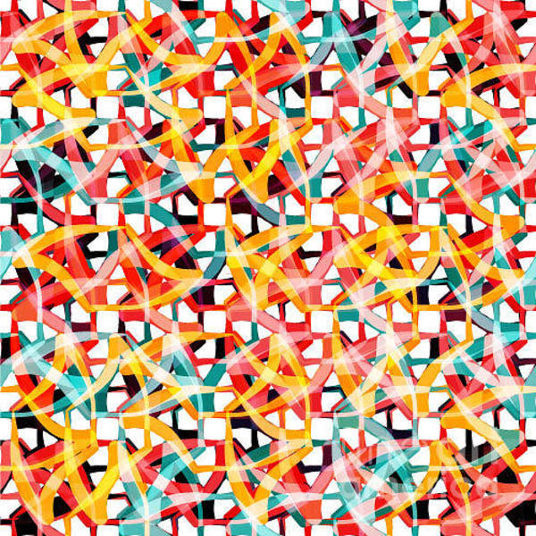 Tile Floor Wall Art - Digital Art - Irregular Chaotic Seamless Pattern by Alex Landa