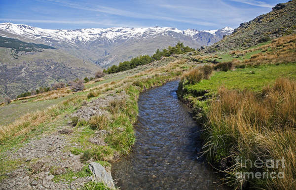 Southern Uplands Wall Art - Photograph - Irrigation Channel Sierra Nevada Mountains Spain by Ian Murray