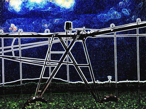 Cultivation Digital Art - Irrigation by Wendy J St Christopher