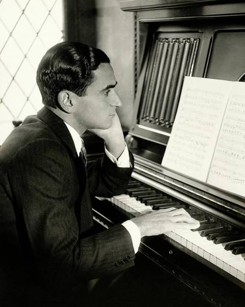 Music Photograph - Irving Berlin At A Piano by Florence Vandamm