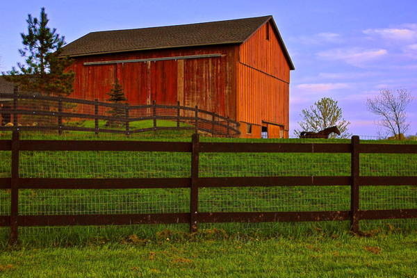 Plow Horses Photograph - Is Every Barn Red by Frozen in Time Fine Art Photography