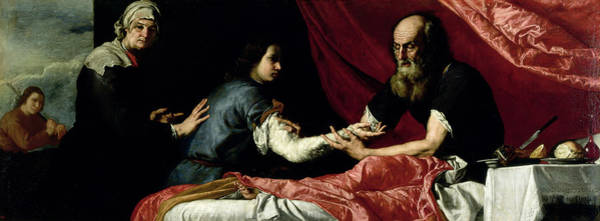 Genesis Photograph - Isaac Blessing Jacob, 1637 Oil On Canvas by Jusepe de Ribera