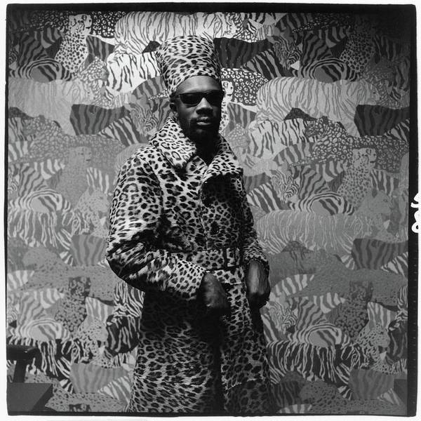 Photograph - Isaac Hayes Wearing Leopard Print by Peter Hujar