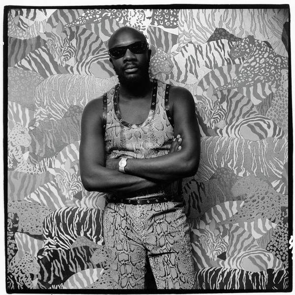 Photograph - Isaac Hayes Wearing Snakeskin by Peter Hujar