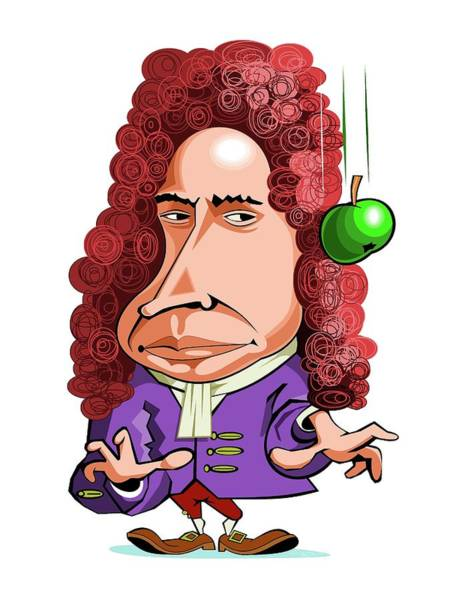 1600s Wall Art - Photograph - Isaac Newton by Gary Brown/science Photo Library