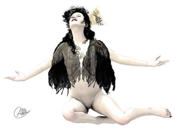 Female Nude Digital Art - Isabel by Quim Abella