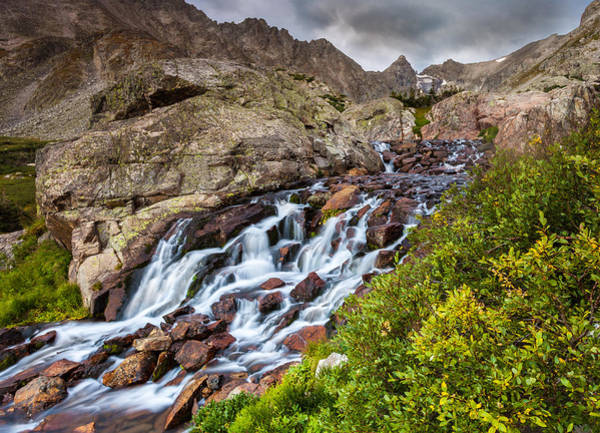 Indian Peaks Wilderness Photograph - Isabelle Cascades by Steven Reed