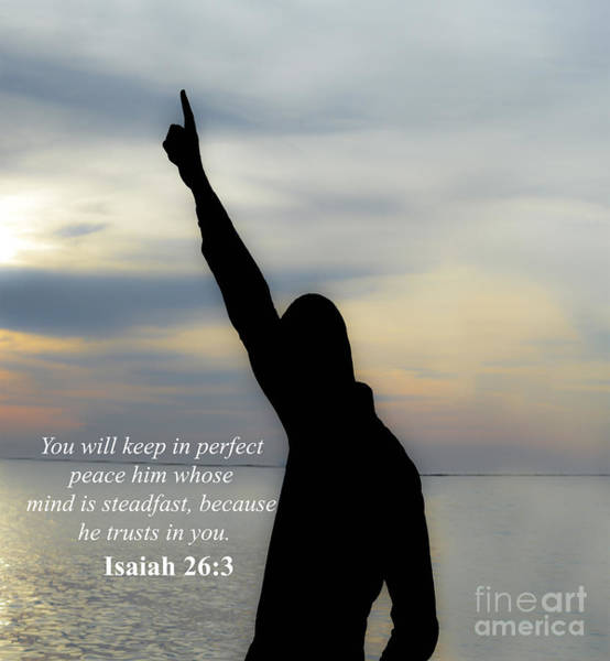 Serenity Prayer Digital Art - Isaiah 26-3 by Kenroy Rhoden