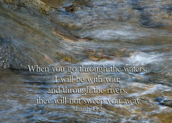 Photograph - Isaiah  When You Go Through The Waters by Denise Beverly