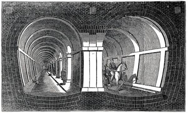 Cross Section Photograph - Isambard Brunel's Tunnel Under The Thames by Universal History Archive/uig