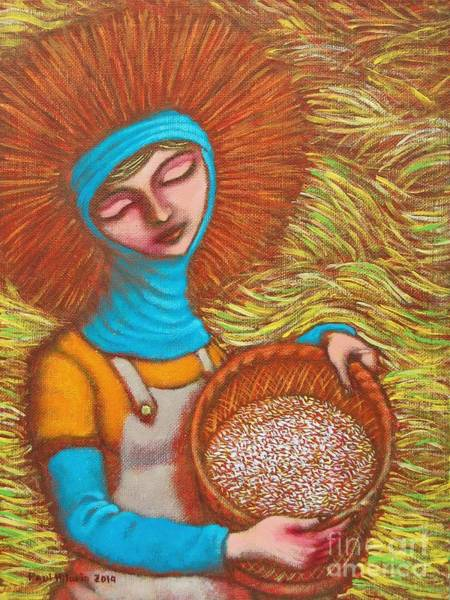 Wall Art - Painting - Isang Basket Ng Bigas by Paul Hilario