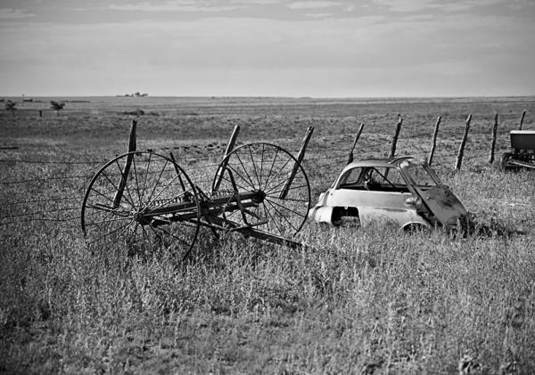 Photograph - Isetta And Hay Rake by Melany Sarafis