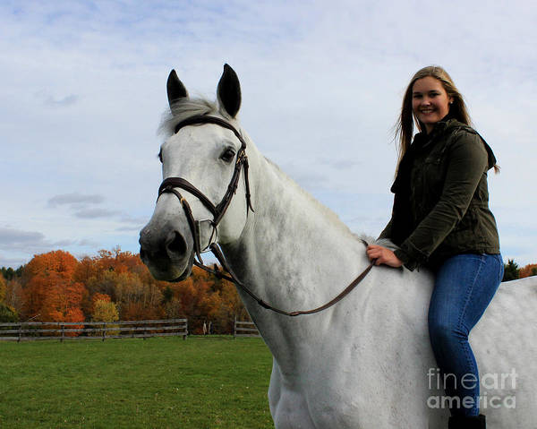 Photograph - Isie Halo 19 by Life With Horses