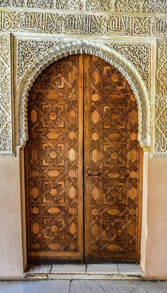 Entrance Photograph - Islamic-style Doorway In Granada, Spain by Starcevic