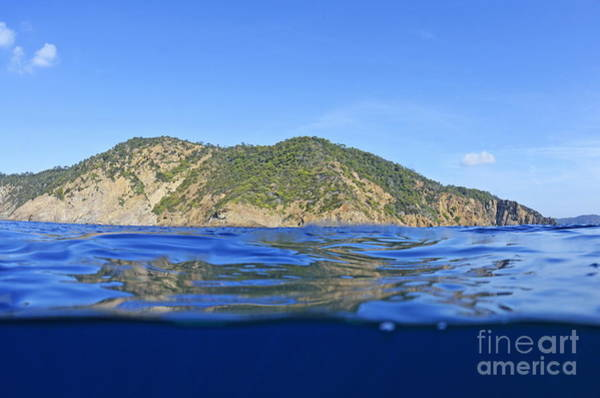 Wall Art - Photograph - Island And Water Surface by Sami Sarkis