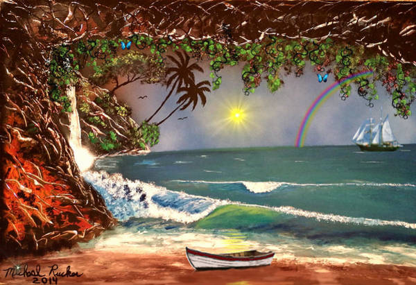 Ocean Wall Art - Painting - Island Cove by Michael Rucker