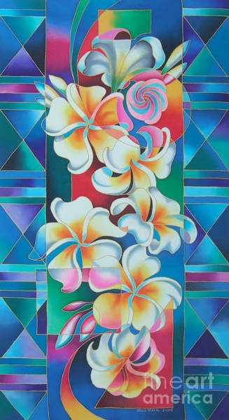 Painting - Island Flowers - Frangipani by Maria Rova