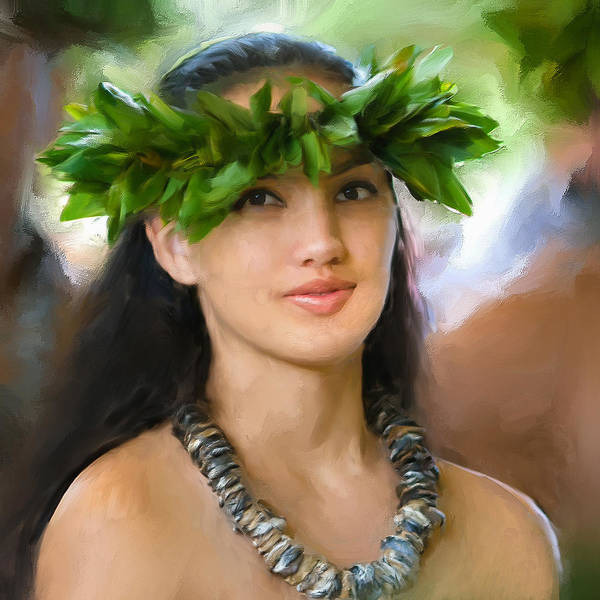 Painting - Island Girl by Dominic Piperata
