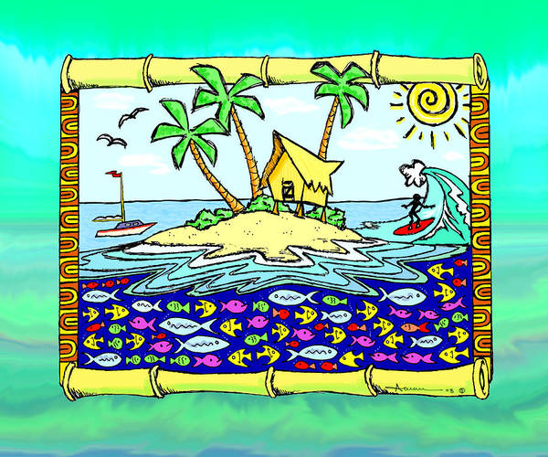 Wall Art - Drawing - Island Home by Aaron Bodtcher