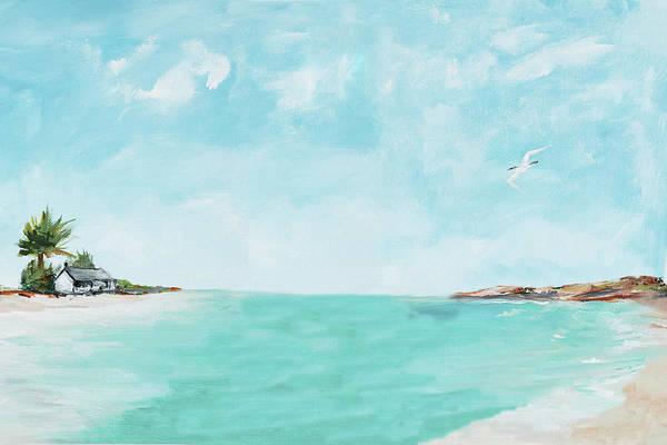 Coastal Digital Art - Island Home by Julie Derice