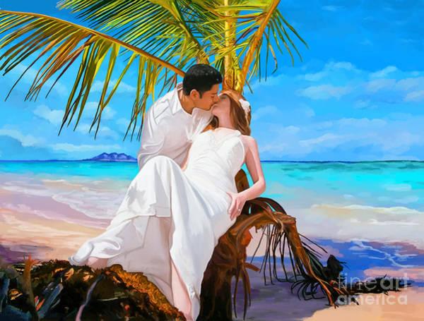Honeymoon Painting - Island Honeymoon by Tim Gilliland
