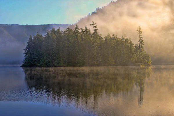 Photograph - Island In The Mist by Peggy Collins