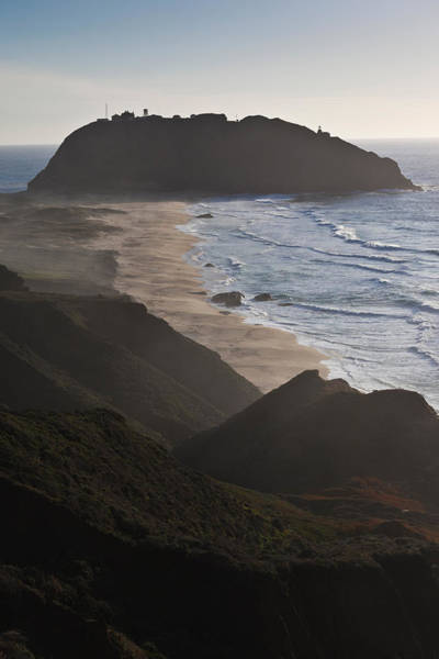 Monterey Park Photograph - Island In The Pacific Ocean, Point Sur by Panoramic Images