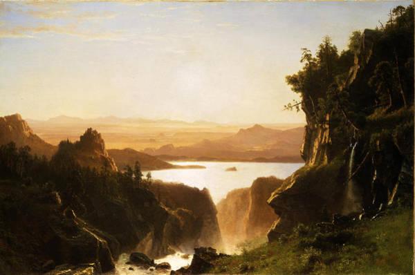 Wind River Range Wall Art - Painting - Island Lake Wind River Range Wyoming by Albert Bierstadt