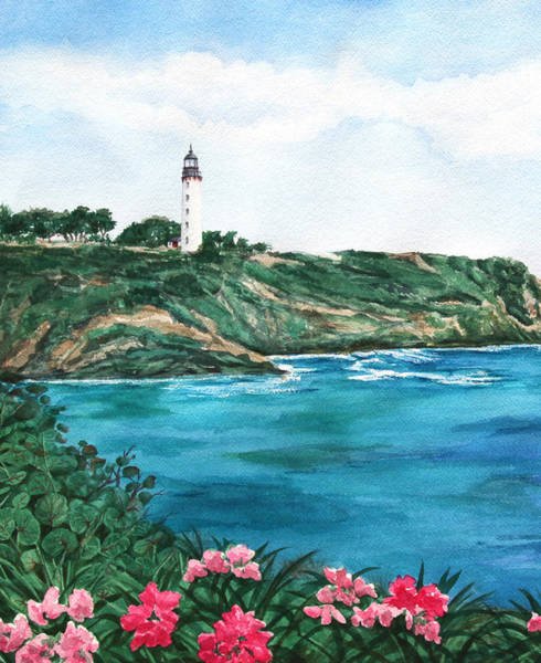 Painting - Island Light Watercolor by Michelle Constantine