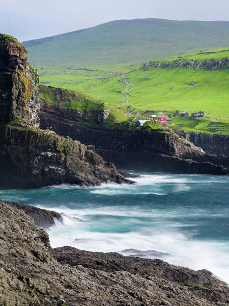 Archipelago Photograph - Island Mykines, Part Of The Faroe by Martin Zwick