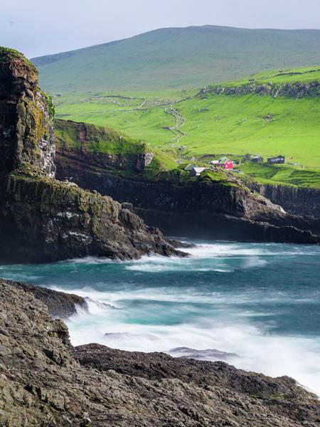 North Atlantic Photograph - Island Mykines, Part Of The Faroe by Martin Zwick