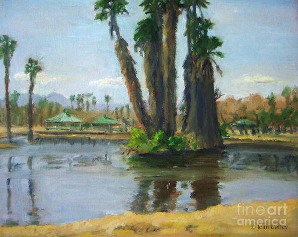 Painting - Island Of Palm Trees by Joan Coffey