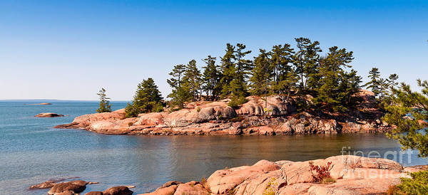 Photograph - Island On Georgian Bay In Ontario by Les Palenik