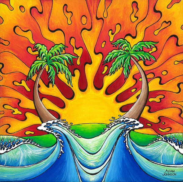 Painting - Island Paradise by Adam Johnson