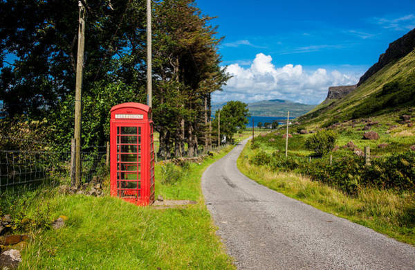 Middle Of Nowhere Photograph - Traditonal British Telephone Box On The Isle Of Mull by Max Blinkhorn