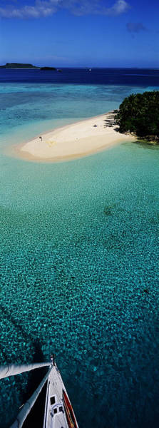 Leisurely Photograph - Island With Boat Tonga South Pacific by Panoramic Images
