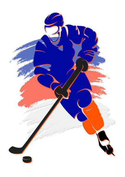 New York Islanders Photograph - Islanders Shadow Player2 by Joe Hamilton