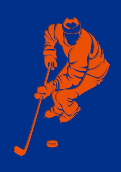 New York Islanders Photograph - Islanders Shadow Player3 by Joe Hamilton
