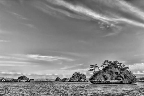 Photograph - Islands In The Bay - Bw by Christopher Holmes