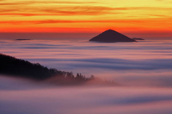 Sunset Colors Photograph - Islands In The Clouds by Martin Rak