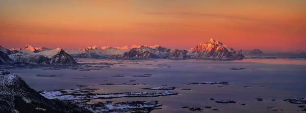 Wall Art - Photograph - Islands In The Sea, Austvagoy, Lofoten by Panoramic Images