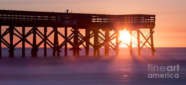Photograph - Isle Of Palms Pier Sunrise South Carolina by Dustin K Ryan
