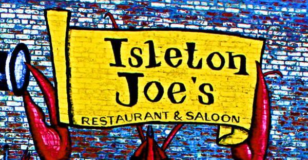 Photograph - Isleton  Joe's Logo by Joseph Coulombe