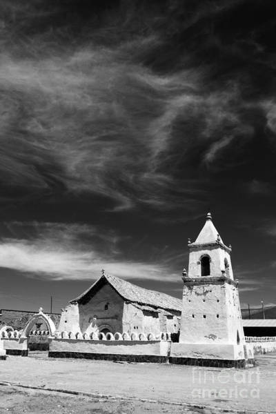 Photograph - Isluga Church Chile by James Brunker