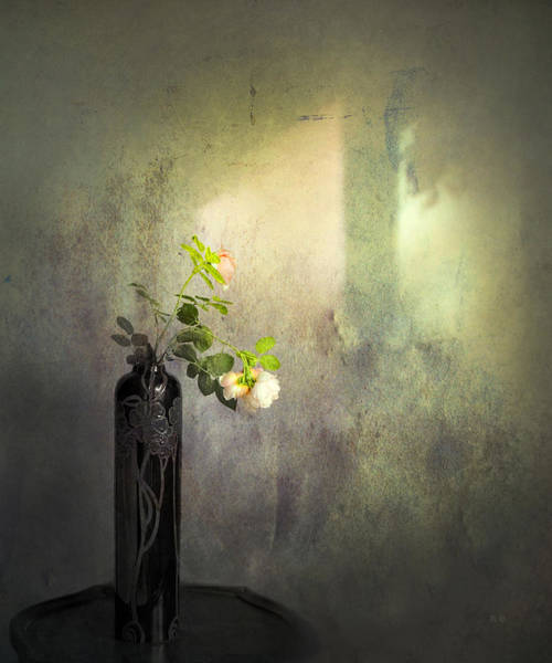 Flowers In A Vase Photograph - Isn't It Romantic by Theresa Tahara