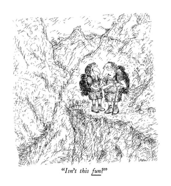 Stuck Drawing - Isn't This Fun? by Edward Koren