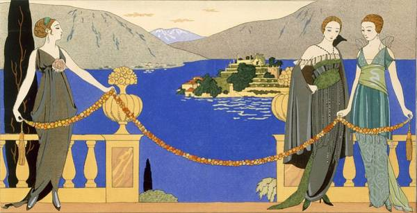 Stencil Painting - Isola Bella by Georges Barbier