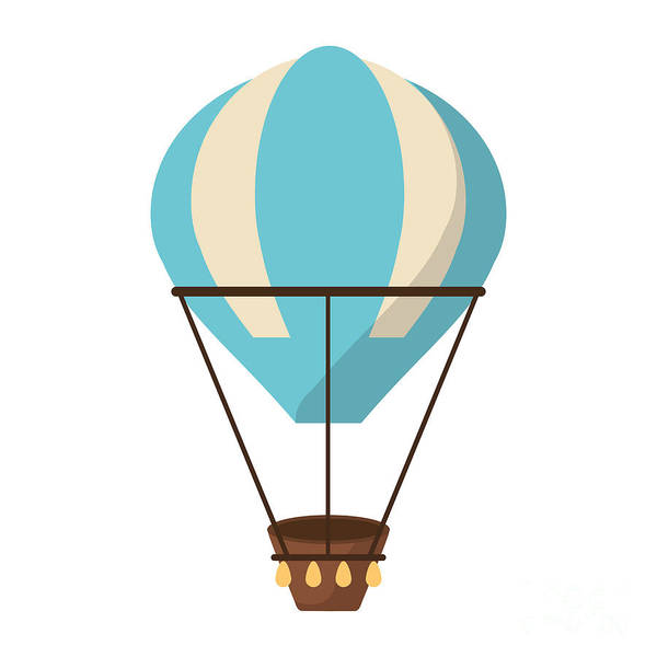 Air Balloon Wall Art - Digital Art - Isolated Hot Air Balloon Design by Jemastock